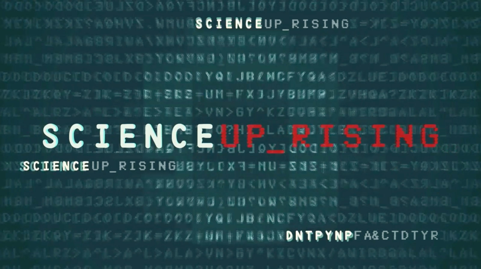 Science Uprising Title Card