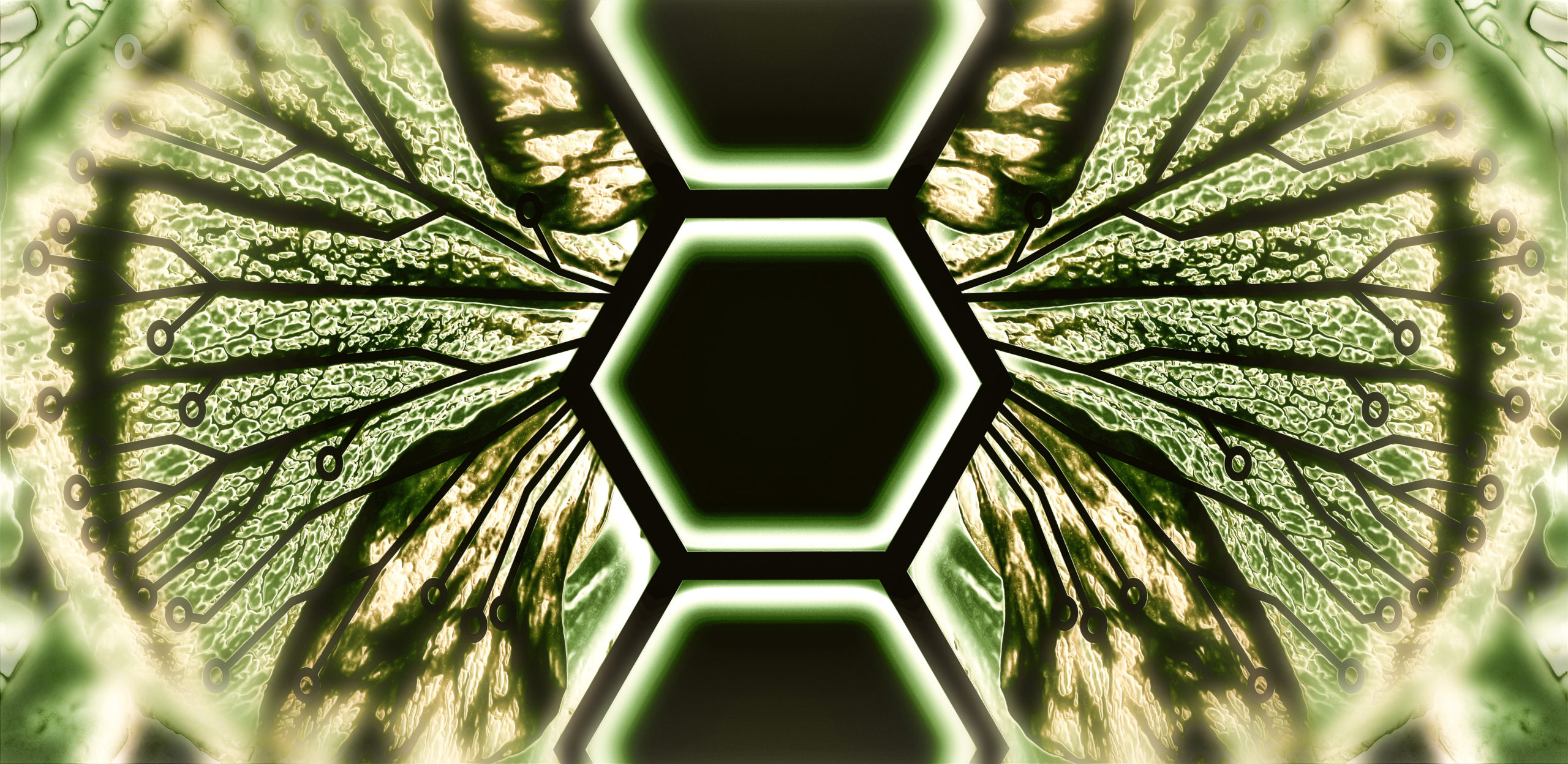 Hybrid Biotechnology - Biomimicry - Abstract Illustration